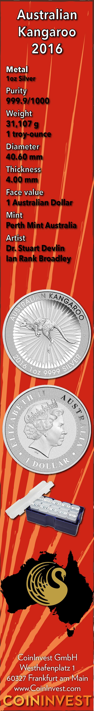 Känguru 2016 — Silbermünze Australien — Perth-Mint (Infografik)