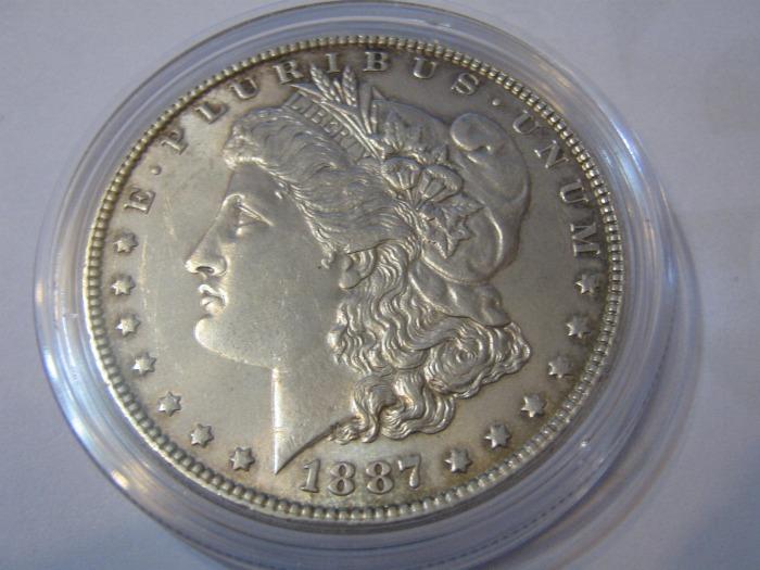 Morgan Dollar Lady Liberty USA Kopf 1887