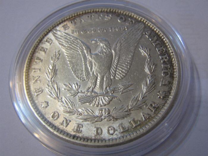 US Eagle auf dem Morgan Dollar der USA